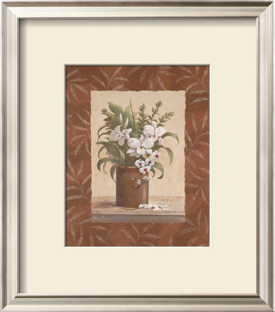 Sylvia's Orchids I Print by Vivian Flasch