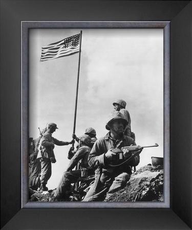 Iwo Jima, 1945 Framed Photographic Print
