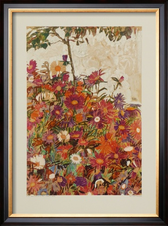 Floral Field Posters by Egon Schiele