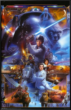 Star Wars - Saga Collage Lamina Framed Poster