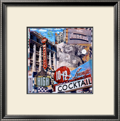 The Majestic High Cocktail Framed Giclee Print by Dave Newman
