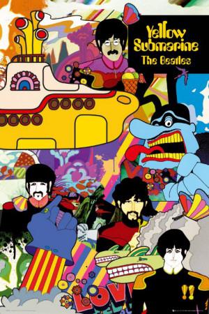 Beatles, The– Yellow Submarine Kunstdruck