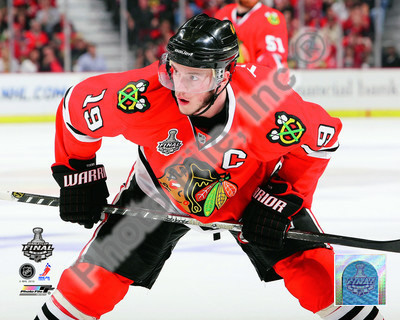 Jonathan Toews Game One of the 2010 NHL Stanley Cup Finals Photo