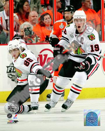 NHL Patrick Kane & Jonathan Toews 2009-10 NHL Stanley Cup Finals Game 3 Photo