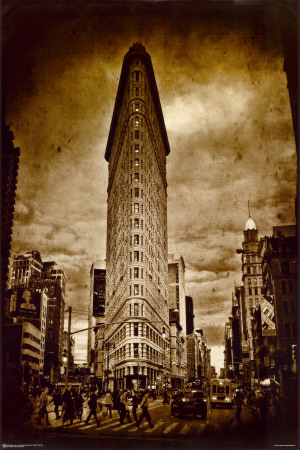New York Flat Iron Affiche