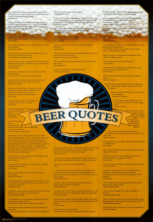 Beer Quotes Póster