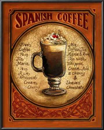 Spanish Coffee Poster by Gregory Gorham