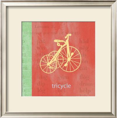 Vintage Toys Tricycle Posters by Paula Scaletta