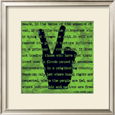 Peace Sign II Prints by Sylvia Murray