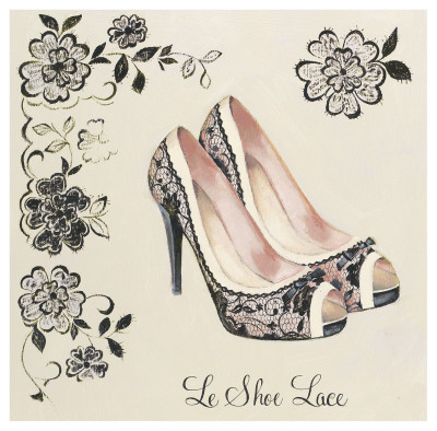 Le Shoe Lace Art Print