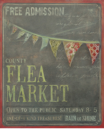 County Flea Market Posters by Mandy Lynne