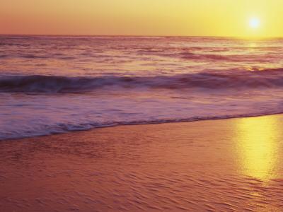 View of Beach at Sunset, Near Santa Cruz, California, USA Photographic Print by Stuart Westmoreland