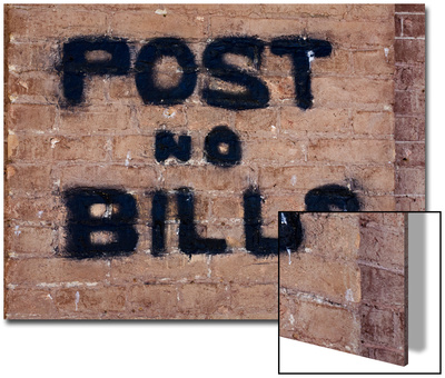 """""""Post No Bills on Brick Wall"""" at Million Dollar Lincoln County Courthouse, Pioche, Nevada Prints by Deon Reynolds"""
