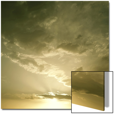 Golden Sunrise in Sky with Clouds Prints by Deon Reynolds