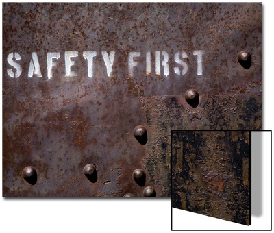 White Pine County, East Ely, Nevada Northern Railway Museum, Safety First on Side of Rail Stock Prints by Deon Reynolds