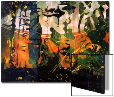 Abstract Image in Red and Green Prints by Daniel Root