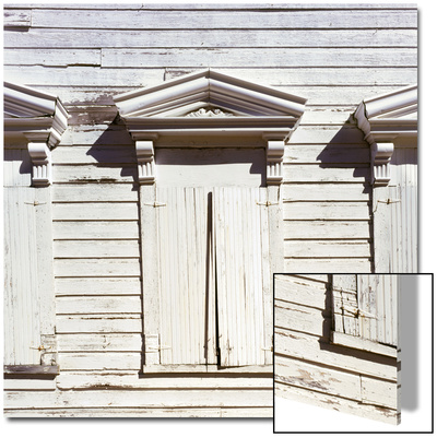 Shuttered Windows of Ghost Town School House, Silver City, Idaho, USA Posters by Deon Reynolds