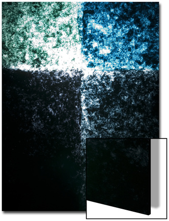 Abstract Image in Blue and Green Art by Daniel Root