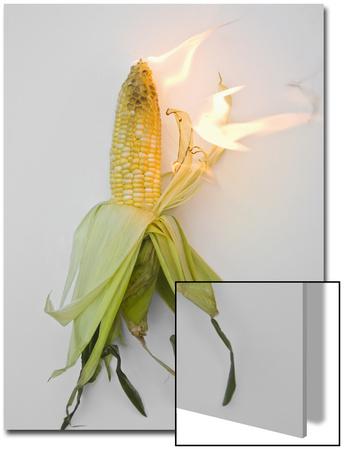 Corn on Fire Prints by John Churchman
