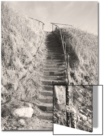 Steps Down to Beach Prints by Kevin Walsh