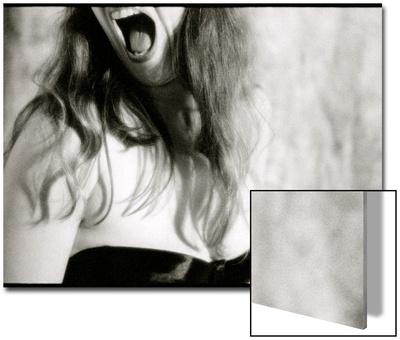Screaming Woman Wearing Black Bra Posters by Deon Reynolds
