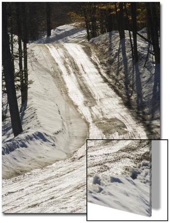 Wet Road Reflecting Sunshine Prints by John Churchman