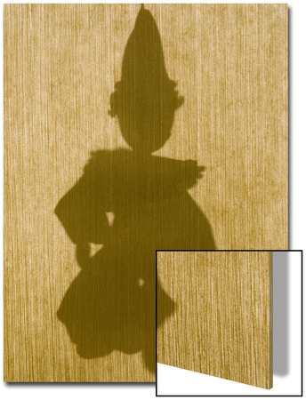 Silhouette of a Sock Puppet Behind a Screen Prints by Daniel Root