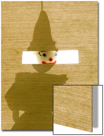 Silhouette of a Sock Puppet Peeking Through a Screen Prints by Daniel Root
