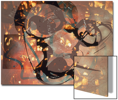 Abstract Image in Yellow, Black, Brown, and Red Art by Daniel Root