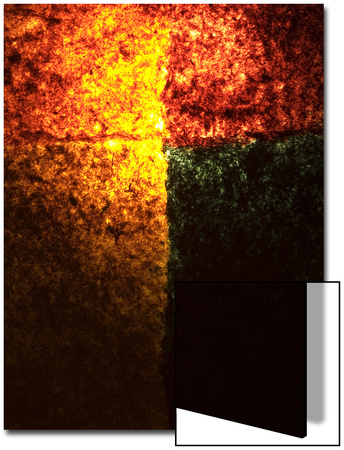 Abstract Image in Red, Yellow, and Green Prints by Daniel Root