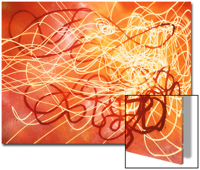 Abstract Image in Red and Yellow Posters by Daniel Root