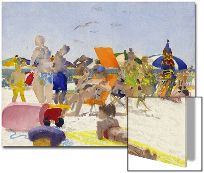 Watercolor Painting of a Beach Scene Posters by Steve Singer