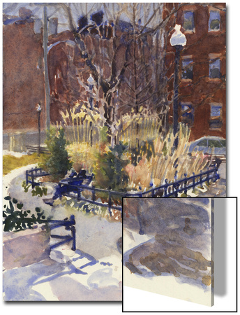 Watercolor Painting of a Park Scene Posters by Steve Singer