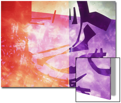 Abstract Image in Purple, Red, and Black Prints by Daniel Root