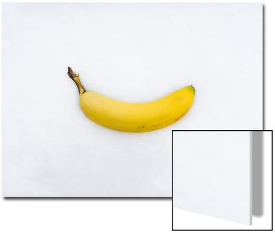 Banana on Snow Prints by John Churchman