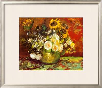 Vase of Flowers Prints by Vincent van Gogh