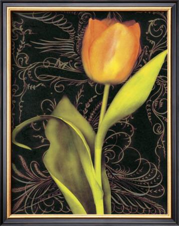 Tulip Manuscript II Art by Sally Wetherby
