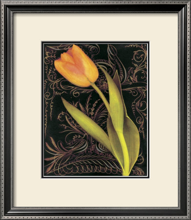 Tulip Manuscript II Poster by Sally Wetherby