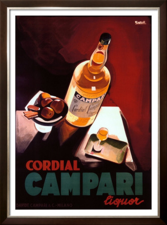 Cordial Campari Framed Giclee Print by Marcello Nizzoli