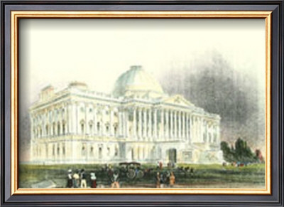 Washington D.C., Capital Front, 1839 Posters by William Henry ...