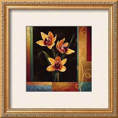 Yellow Orchids Print by Jill Deveraux