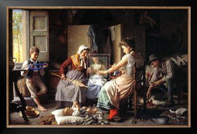Happy Family Prints by Giovanni Battista Torriglia