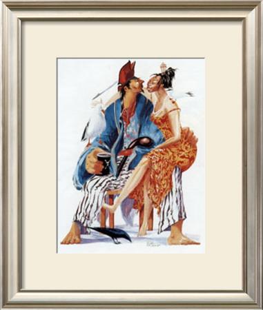 A l'Escale Amourette Poster by Gildas Flahault