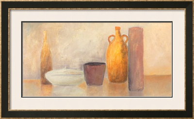 Still Life with Yellow Bottle Print by Heinz Hock