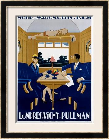 Nord-Wagons Lits-PLM Framed Giclee Print by Jean-raoul Naurac