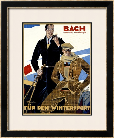 Bach, Fur den Wintersport Framed Giclee Print by Julius Ussy Engelhard