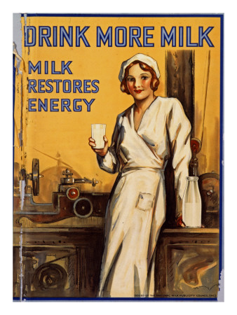 Drink More Milk Poster Giclee Print
