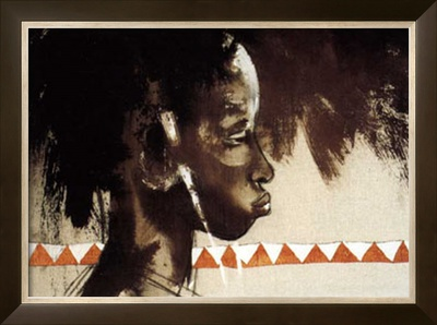 La Belle de Tambacounda Print by Gildas Flahault