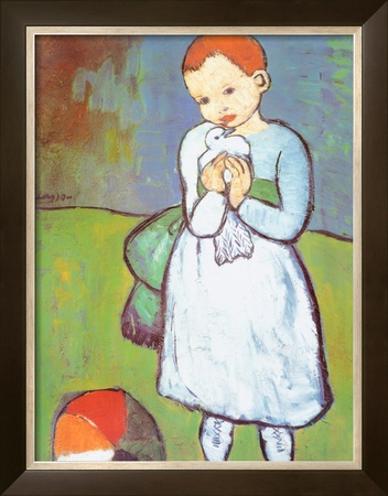 Child with a Dove, c.1901 Art by Pablo Picasso