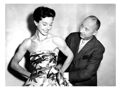 Christian Dior with Model Dorothy Emms, 1952 Giclee Print